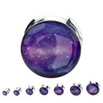 Picture Ear Plug - Steel - Galaxy - 8 mm