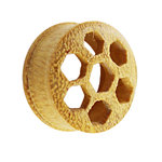 Wood Ear Plug - Jackfruit Wood - Honeycomb