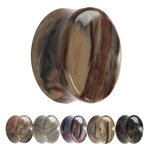 Stone Ear Plug - Petrified Wood - 8 mm